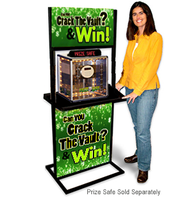 prize crack safe display stand stock