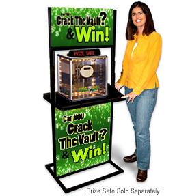 prize crack safe display stand stock